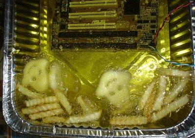 Bayangkan, kentang tadi tergoreng akibat suhu cpu ini