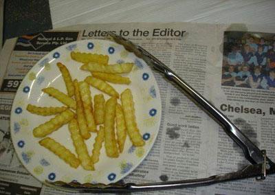Nah, kentang goreng KFC ala CPU siap untuk dihidangkan