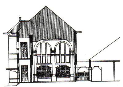 Kantor PTT (Post, Telegraaf en Telefoon) di Jogjakarta yang dirancang oleh BOW pada Th. 1910 dan dibangun pada th. 1912. Bangunan tersebut merupakan salah satu contoh  arsitektur transisi, yang dirancang oleh BOW.